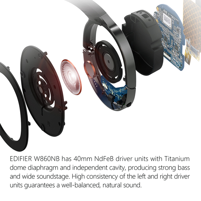 EDIFIER W860NB Bluetooth Headphones ANC Touch control Support NFC pairing and aptX audio decoding Smart Touch wireless earphone 3