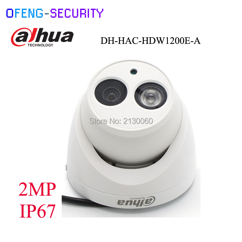 Original Dahua DH-HAC-HDW1200E-A HDCVI camera built-in MIC 2MP IR 50M IP67 Security CCTV Camera HAC-HDW1200E-A HDCVI dahuacamera стоимость