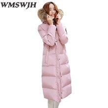 2017 Female Jacket Basic Coat Casual Warm Long Sleeve Solid Winter Jacket Women Fur Hooded Cotton Women's Winter Jacket Coat