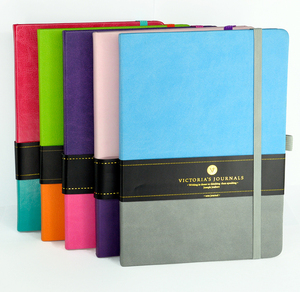 Victoria's Journals Duo Leatherette Hard Cover Journal Bullet Notebook With Pen Loop Undated Diary Bujo