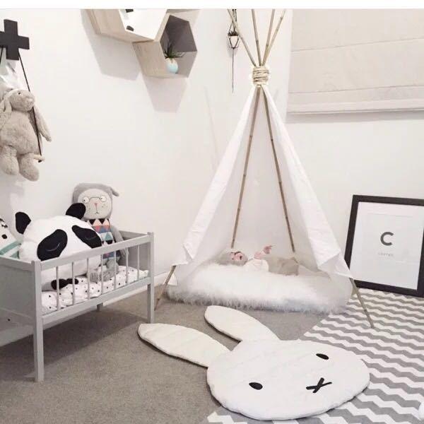 Cotton Cartoon Children Room Decoration Play Rugs Creeping Mat Kids Lovely Rabbit Crawling Blanket Carpet Floor Baby Play Mats
