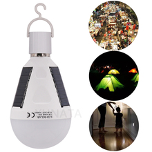 Waterproof 7W 12W E27 Portable Solar Powered Led Bulb Rechargeable Outdoor Emergency Landscape Garden Lamp Hanging Night Light
