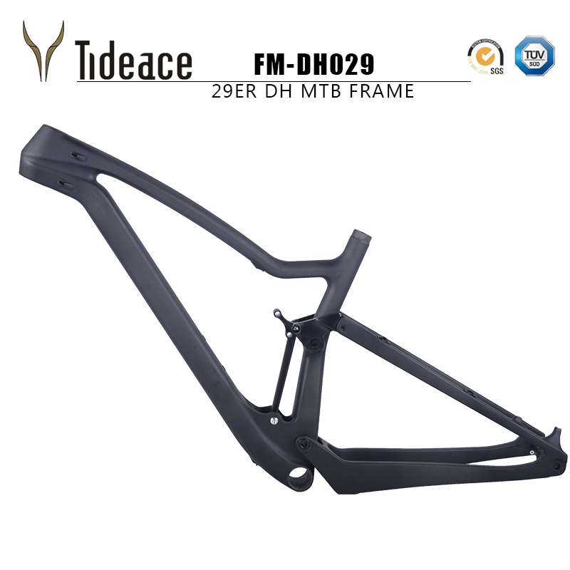 Tideace 2018 full suspension carbon mountain bike frame 29er 15.5/17.5/19/21inch mtb carbon 29er suspension frame disc brake 17 inch mtb bike raw frame 26 aluminium alloy mountain bike frame bike suspension frame bicycle frame
