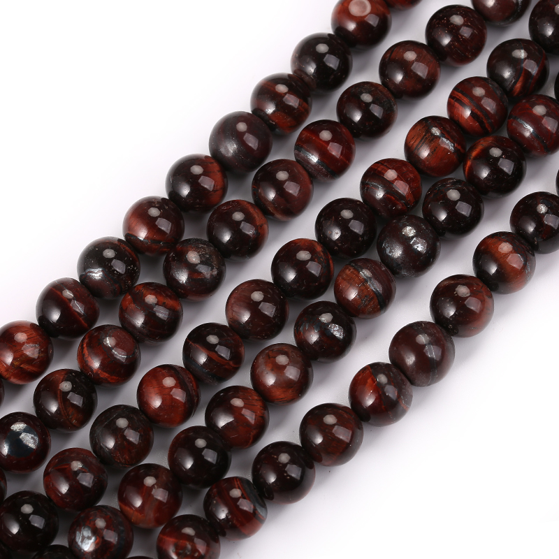 Factory Price Wholesale Natural Stone Red Tiger Eye Round Loose Beads 15 quot Strand 4mm 6mm 8mm 10mm 12mm Pick Size For Jewelry in Beads from Jewelry amp Accessories