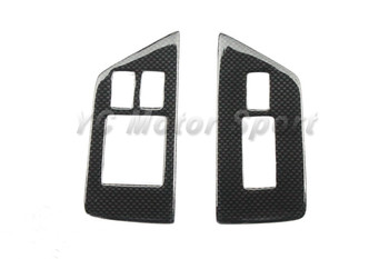 Dry Carbon Fiber 1&1 Twill Weave Glossy Finish RSW Style Interior Trim Fit For 2008-2013 R35 GTR LHD Window Switch Panel Cover