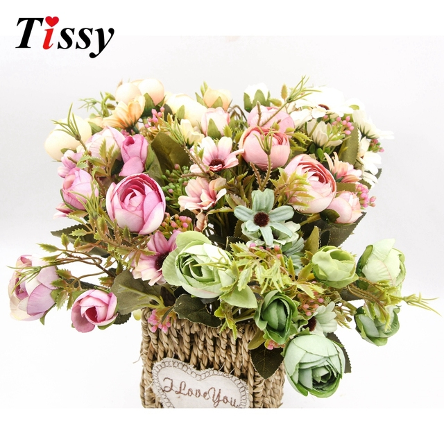 1 bouquet high quality artificial flowers the american village 1 bouquet high quality artificial flowers the american village pretty retro silk flower wedding favors home mightylinksfo Gallery