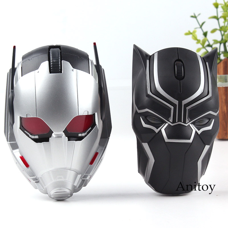 Original Marvel Toys Avengers Civil War Ant-Man Ant Man Black Panther Bluetooth Wireless Mouse Mouse Gaming LED Compuer Mouse ...