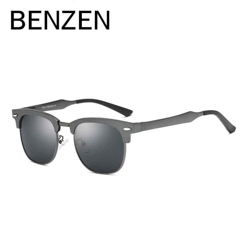 c440e62733843 BENZEN Al Mg Óculos De Sol Dos Homens Designer De Marca Colorida Proteção  UV Óculos de Sol Masculino Óculos de Condução Óculos Shades Com Caso 9275  em ...