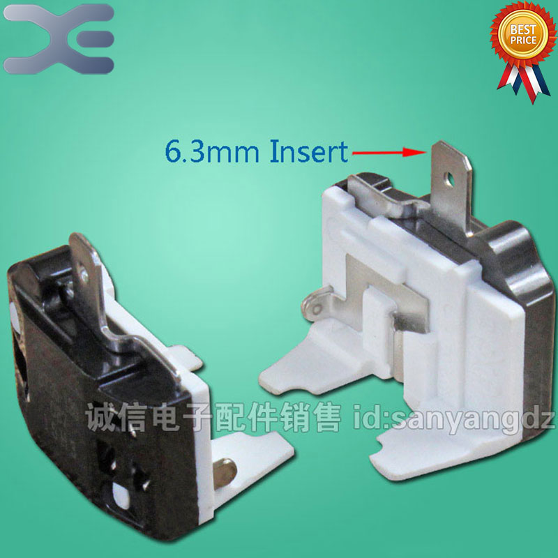 2Pcs 1/2HP375W 1/4HP180W 1/5HP150W R600A Refrigerator Freezer Compressor Thermal Flat Overload Protector