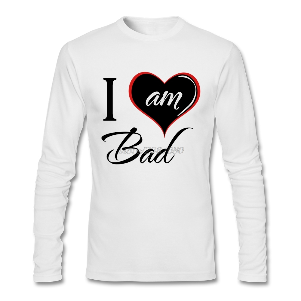 Shirt design software online - T Shirt Software Slim Fit Youth Bad I Love Am Bad My City Long Sleeve