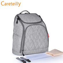 2019 Hot Sell Quilted Cotton Canvas Diaper Bags Big Capacity Backpacks