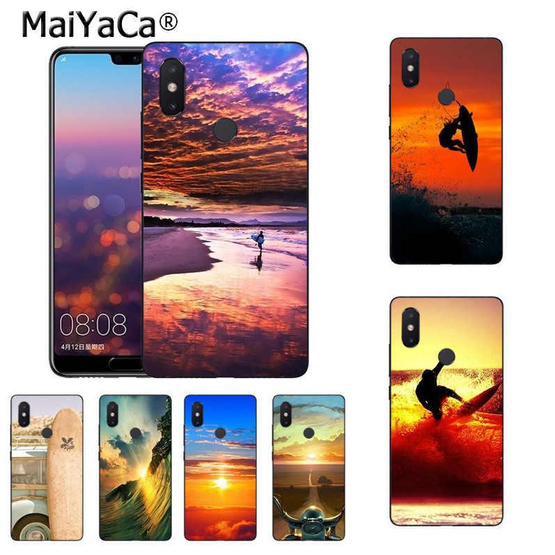 MaiYaCa ركوب الأمواج و تصفح الغروب مذهلة المشهد الهاتف حالة ل xiaomi mi 8se 6 note3 redmi 5 5 زائد ملاحظة 5 حالة كوكه