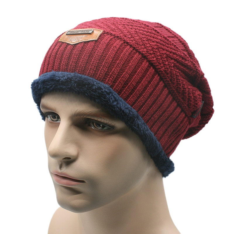 5e7e32060a1 Men s Winter Beanie Knit Wool Cap Hat Baggy Warm Skull Wool Women Hats  Unisex-in Skullies   Beanies from Apparel Accessories on Aliexpress.com