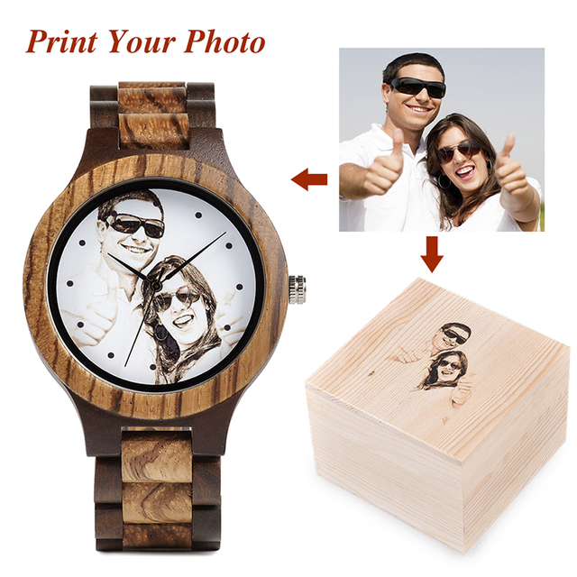 BOBO BIRD Personal customize Men Watch Family Birthday Gift Quartz Bamboo Watches Men's Wristwatch Engrave Logo