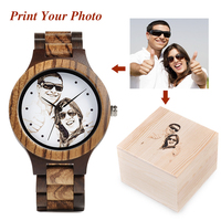 BOBO BIRD Personal customize Men Watch Family Birthday Gift Quartz Bamboo Watches Men's Wristwatch Engrave Logo