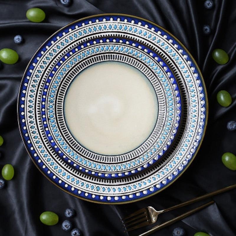 Western Salad Dishes: Creative Western Food Porcelain Dinner Set Ceramic Dinner