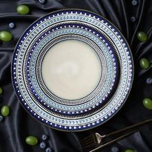 Creative Western food Porcelain dinner set ceramic Dinner plate salad Steak Dish Tableware