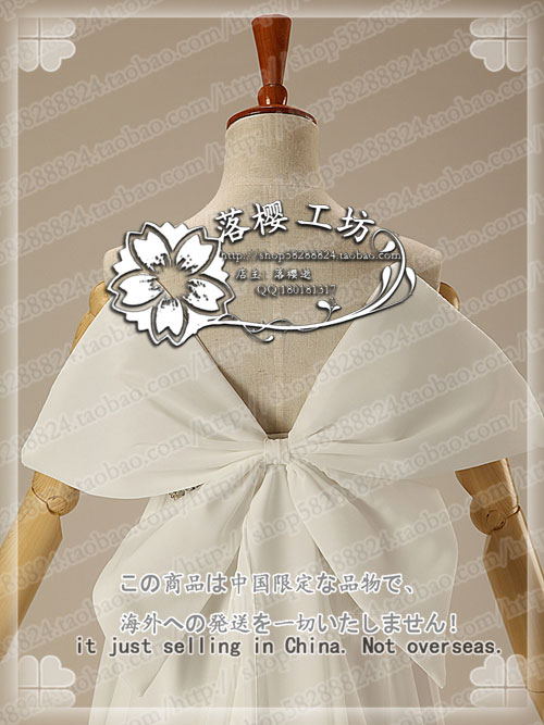 Sailor Moon Princess Tsukino Usagi White Luxury Chiffon Party Dress Halloween Cosplay Costume Uniform Outfit Custom made - 6