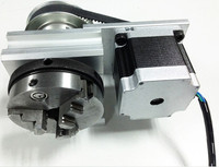 high quality A axis three jaw chuck Rotary Axis + CNC Tailstock For Our CNC engravers with limit switch