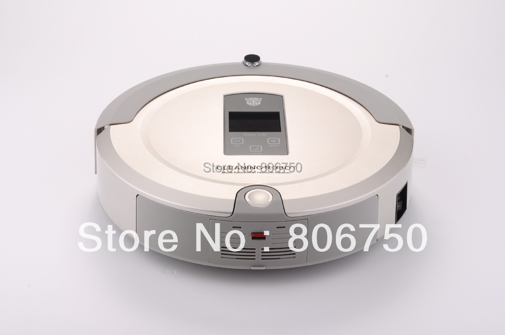 (Free Shipping For Russian Buyer)4 In 1 Multifunction Robot Vacuum Cleaner ,LCD Touch Screen,Schedule,Auto Charge
