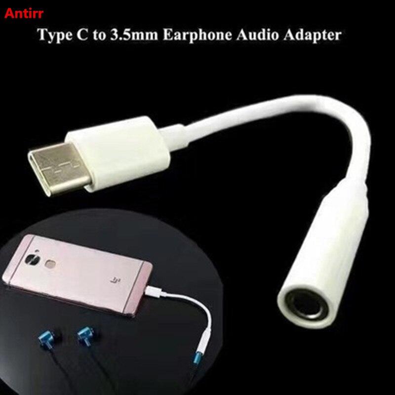 Type-C To Audio Port Adapter Cable 3.5mm Earphones Headphones To Type C Connector For Meizu MX6 PRO 5 Pro 6 Leeco Le PRO 3 #40