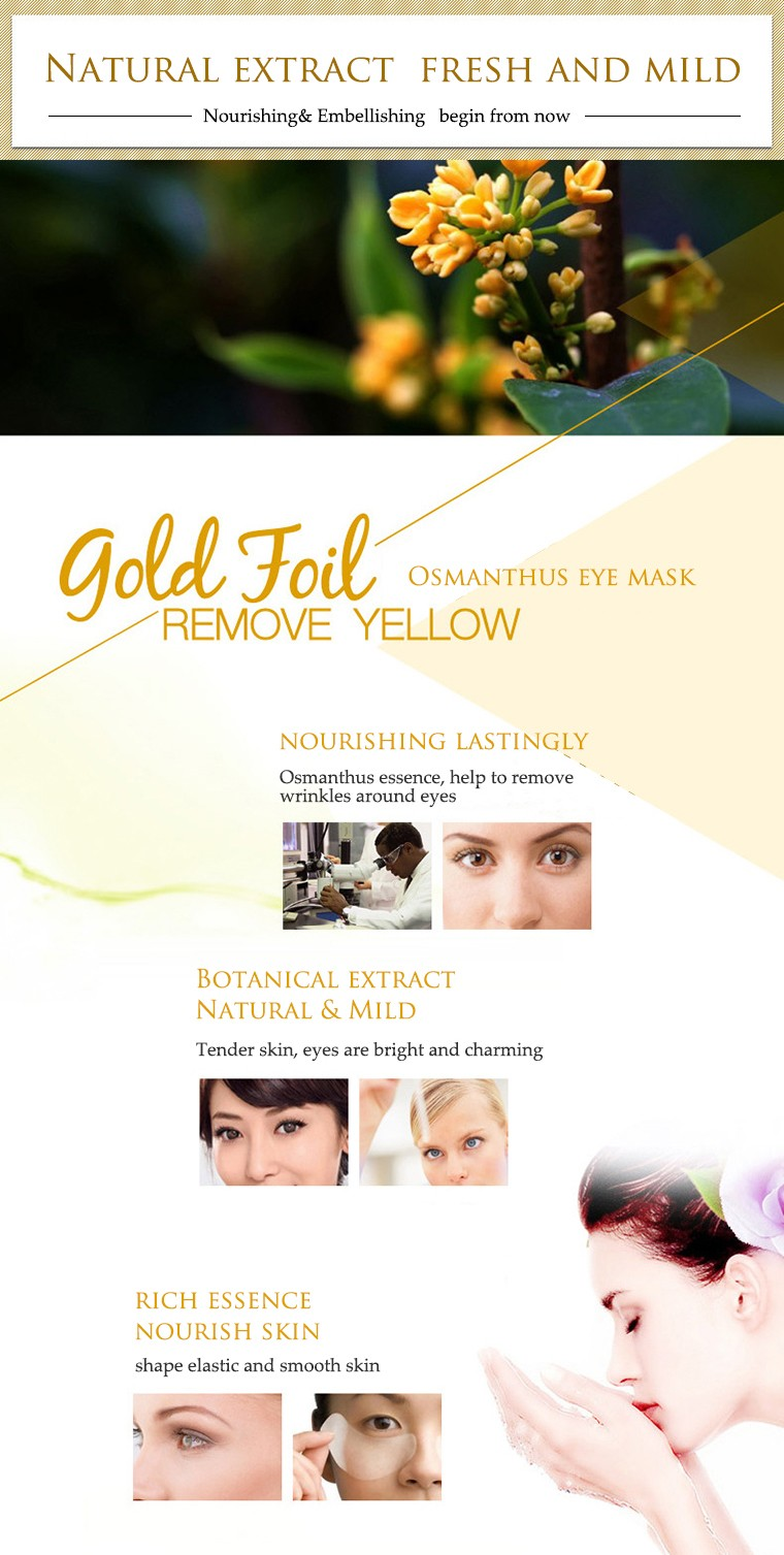 BIOAQUA Gold Osmanthus collagen Eye Mask