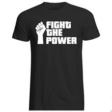 FIGHT THE POWER - T-SHIRT All SIZES + COLOURS (OCCUPY 99% PUBLIC ENEMY) Harajuku Tops Fashion Classic Unique free shipping