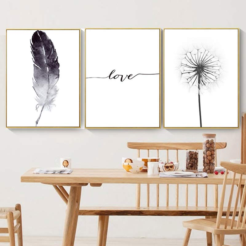 Image 2 - 3PCS/set Dropship Posters and Prints Love Abstract Cartoon Canvas Painting Nordic for Living Room Wall Art Picture Home Decor-in Painting & Calligraphy from Home & Garden