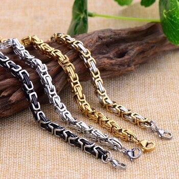 Мужские браслеты-цепочки из титановой стали