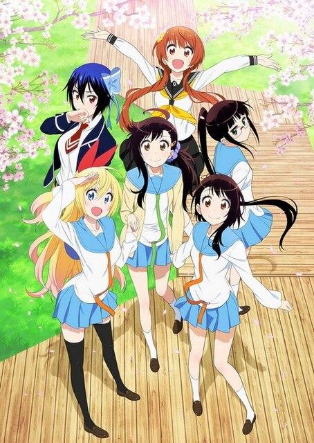 [7 Animes Indispensáveis] - Comédia Nisekoi-Anime-Characters-90-60CM-Wall-Scroll-Poster-39464.jpg_640x640