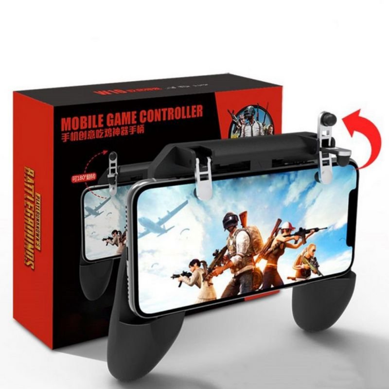 W10 3-in-1 Game Grip Fire Trigge Super Practical Mobile Phone Game Console Control Handle  for PUBG