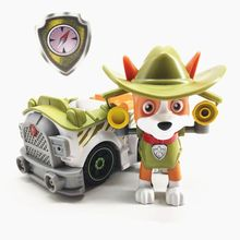 Paw patrol track Dog patrulla canina Toys Anime Figurine Car Plastic Toy Action Figure model Children toys все цены