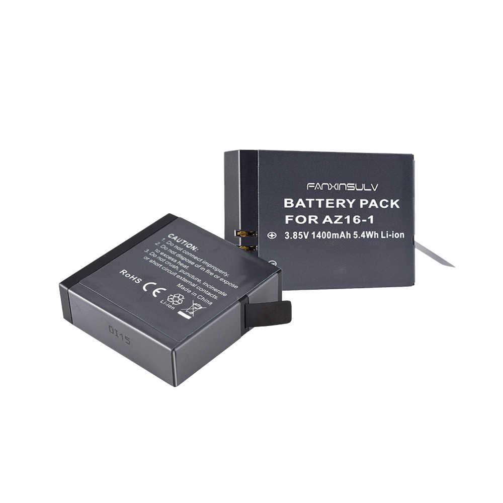 1 x AZ16 1 Battery AZ16-1 + 1x battery box For Xiaomi Yi 2 4K Battery Yi 4K+ Yi 360 VR Original Xiao Mi Yi Lite Action Cameras
