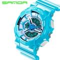 SANDA Reloj de Cuarzo Marca Hombres Al Aire Libre Impermeable de Los Relojes Del Deporte de G estilo S Choque hombres reloj Relogio Reloj Hombre 2016 Nuevo estilo