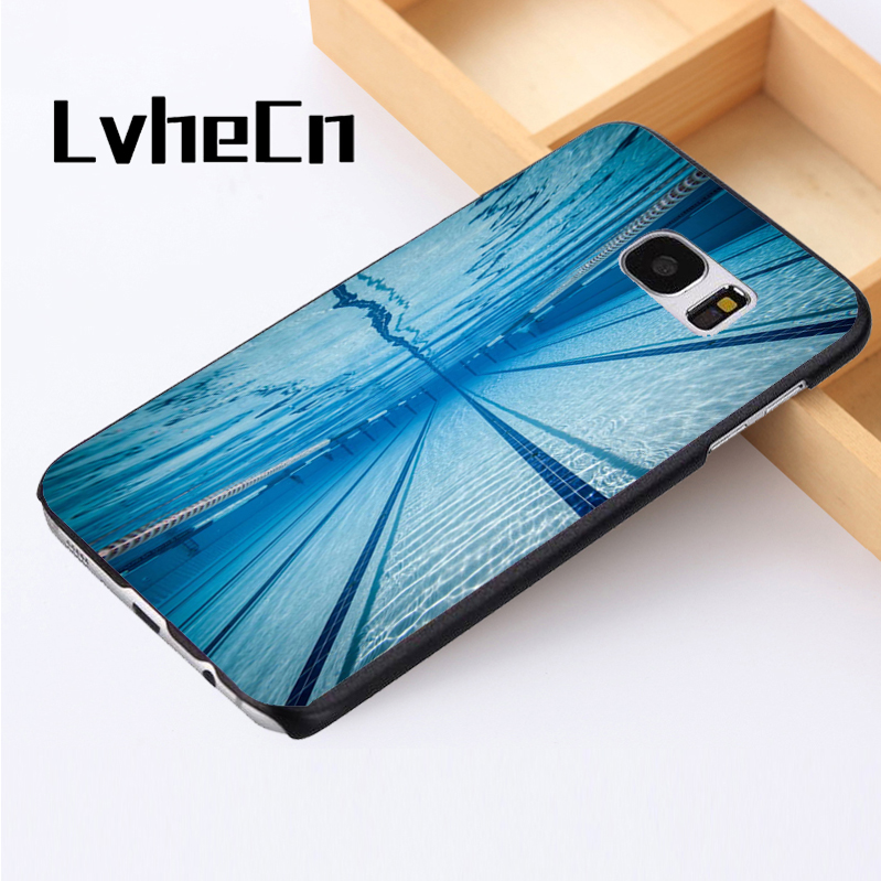 LvheCn phone case cover For Samsung Galaxy S3 S4 S5 mini S6 S7 S8 edge plus Note2 3 4 5 7 8 Swimmer Swimming Pool Water