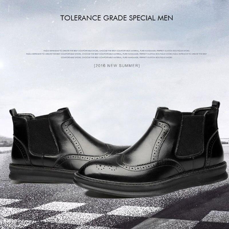 Cómodo Hombres Botas Marca Los Black Genuino Zapatos De Martin Wine red Vaquero Lujo Occidental Punta TqpXxPB