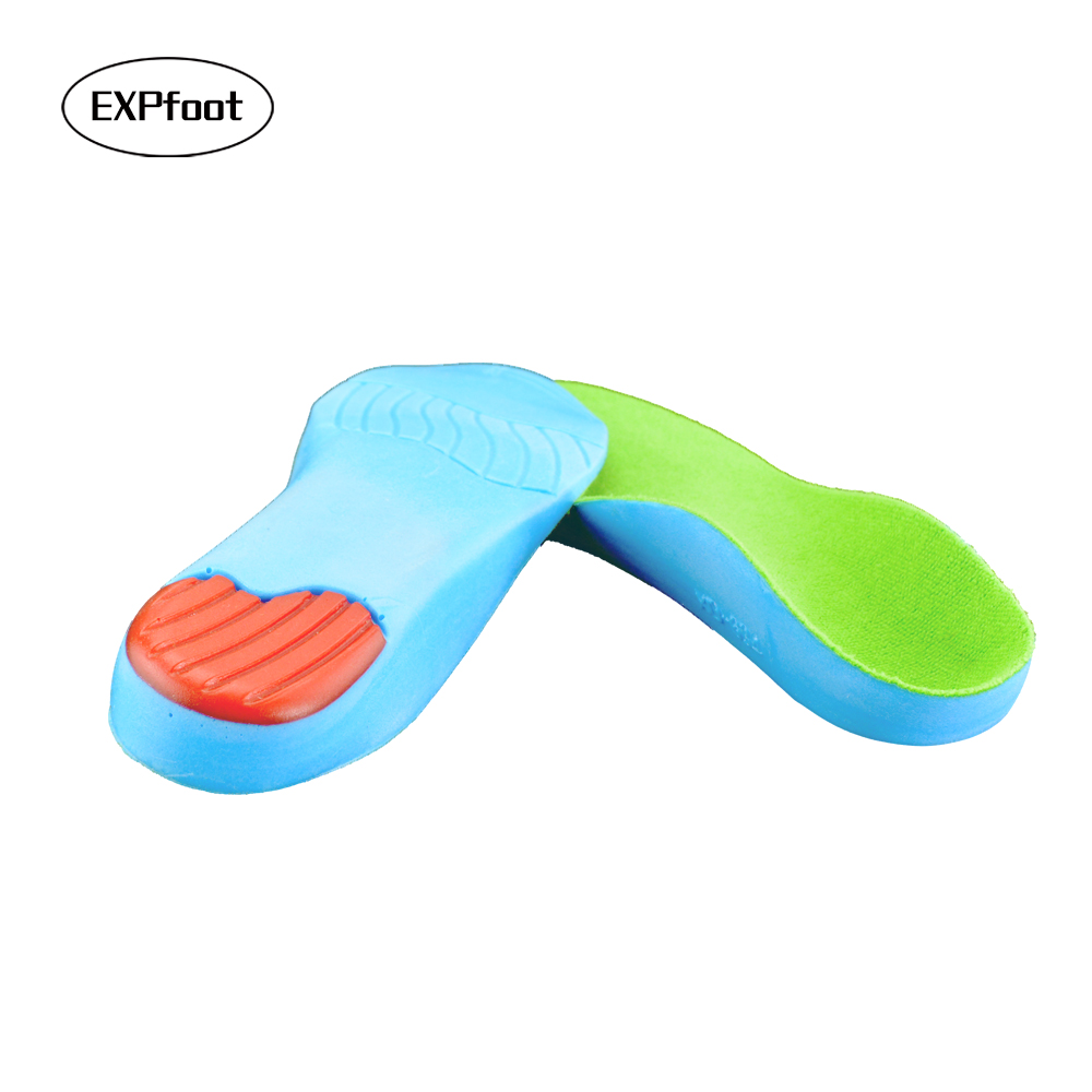 High Quality Kid's orthotic insole for children shoes flat foot arch support orthopedic Pads Correction health feet care 15-25cm kotlikoff leather orthotic insoles flat foot shoe insole high arch support orthopedic pad for correction ox leg health foot care
