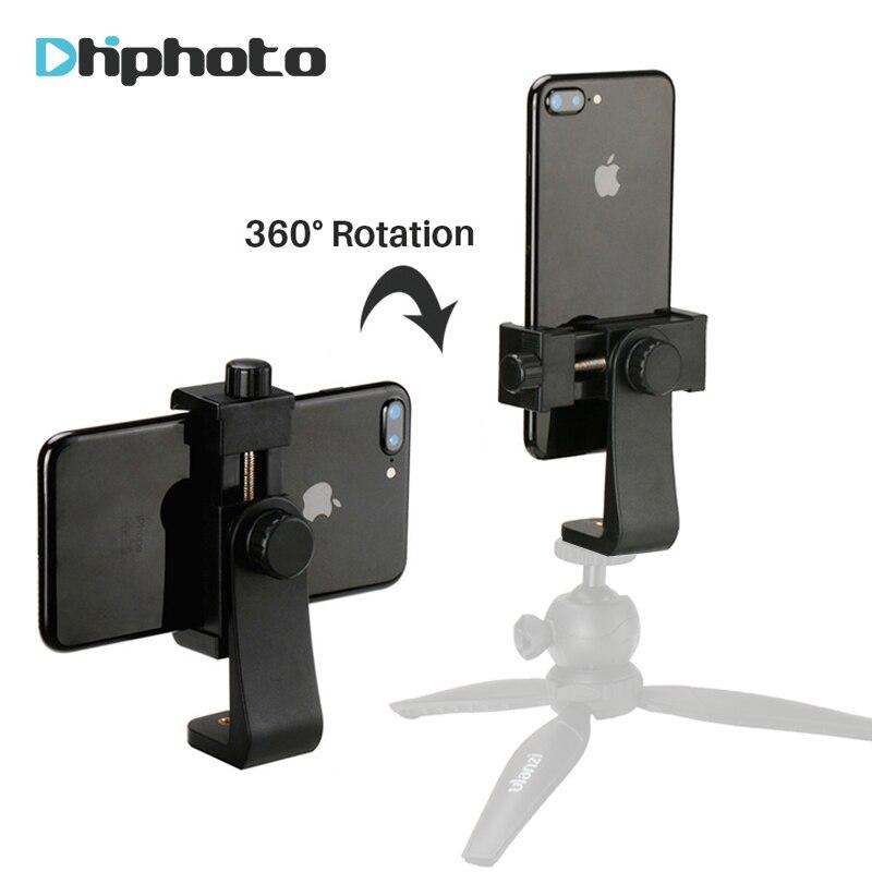 Téléphone universel Adaptateur De Trépied De Téléphone Portable Support À Tondeuse Verticale 360 Trépied Support pour iPhone X 7 8 Plus Samsung S8 S7
