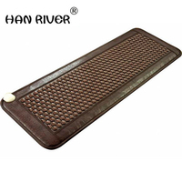 HANRIVER 2018 Most Popular Natural Heating Tourmaline Mat Thermal Massage heat Cushion Massage Mattress Health Care 50*150CM
