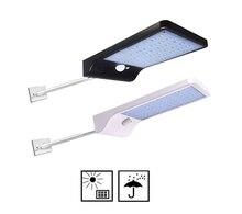 48/36 LED Solar Street wall Light 3 Modes PIR Motion Sensor Lamps Garden Outdoor Waterproof Lighting Path w metal pole