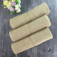 2PCS/LOT * 30CM *5M Natural Jute Burlap Fabric Roll For Wedding DIY Decoration Country Rustic Party Decor