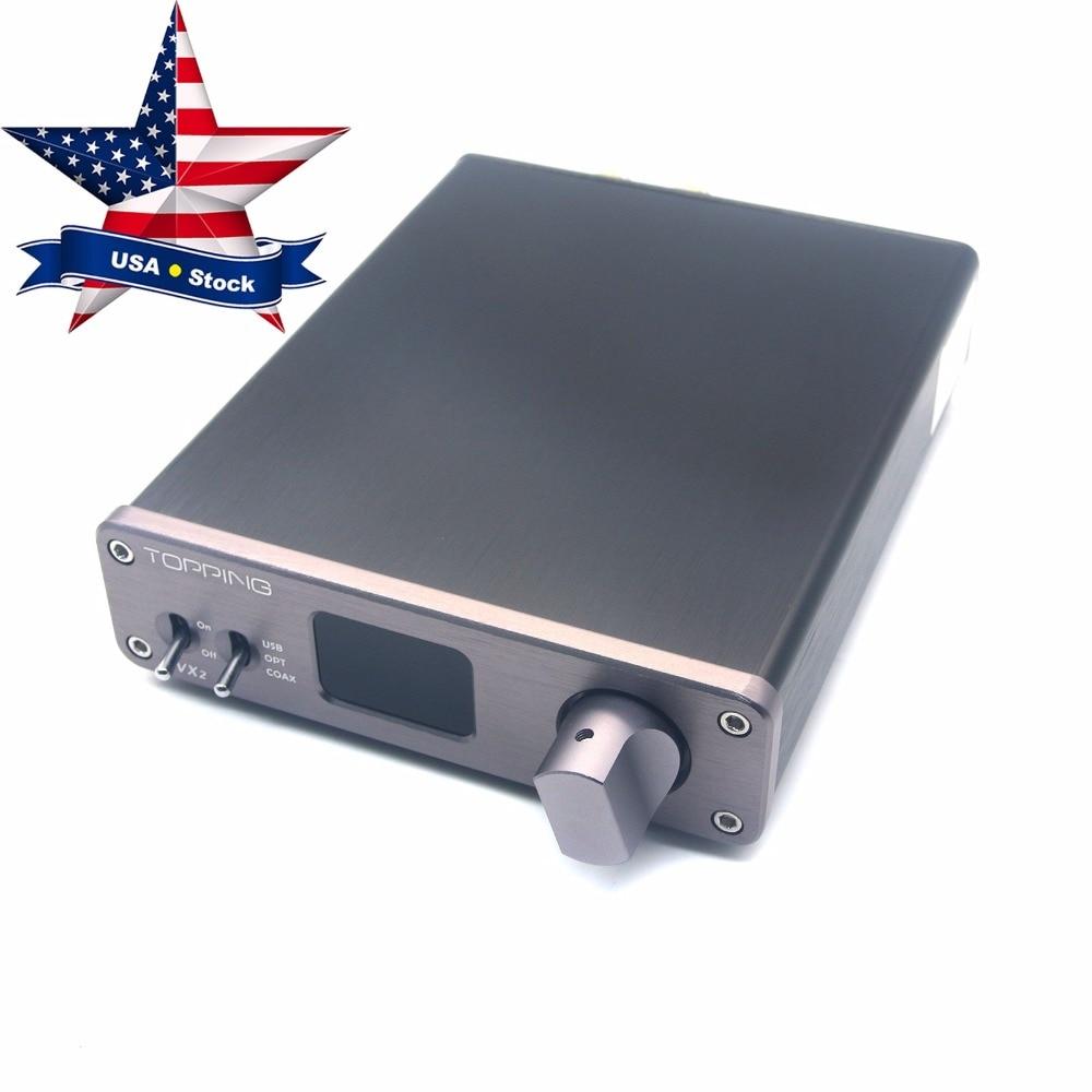 все цены на  Topping VX2 HiFi Audio Digital Amplifier Stereo 2x40W 2CH 24bit/192kHz Amp Support USB Coaxial Optical Fiber Gray USA Stock  онлайн