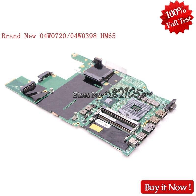 NOKOTION nouvelle carte mère d'ordinateur portable 04W0398 48.4MI04.021 pour Lenovo Thinkpad Edge E520 DDR3 HM65 GMA HD 3000 DDR3
