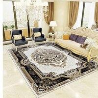 Retro Persian Large Size Living Room Carpet, Classical Bedside Bedroom Carpet, Thicken Home Decoration Livingroom Carpet