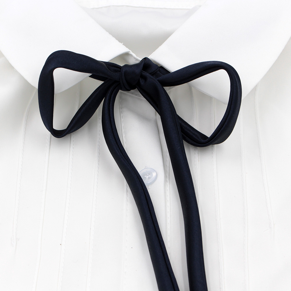 9 Colors Fashion 2017 JK Bow Tie For Women Japanese Style Tie Solid Self-tie Black Red Lilac Blue Pink Streamers For Uniform