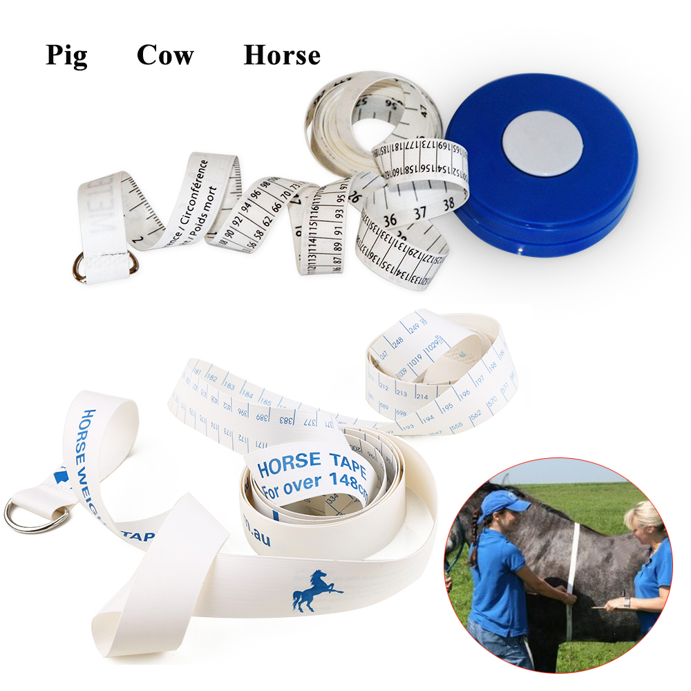 1PCS Horse Pony Pig Cattle Weighting Tape Weight Ponies Estimate Ruler Manual 2.5m Length Girth Veterinary Equipment Farming