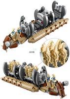 New 565pcs Bela 10374 Star Wars Battle Droid Troop Carrier Spaceship Vessel Cruiser Jar Binks Blaster