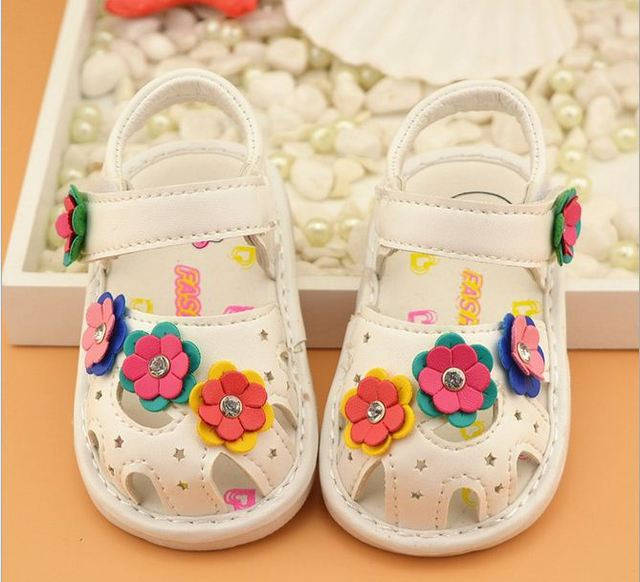 Kids Baby Girls First Walker Shoes Baby  Summer Flower Cute Shoes Child Baby Toddler shoes leather Shoes