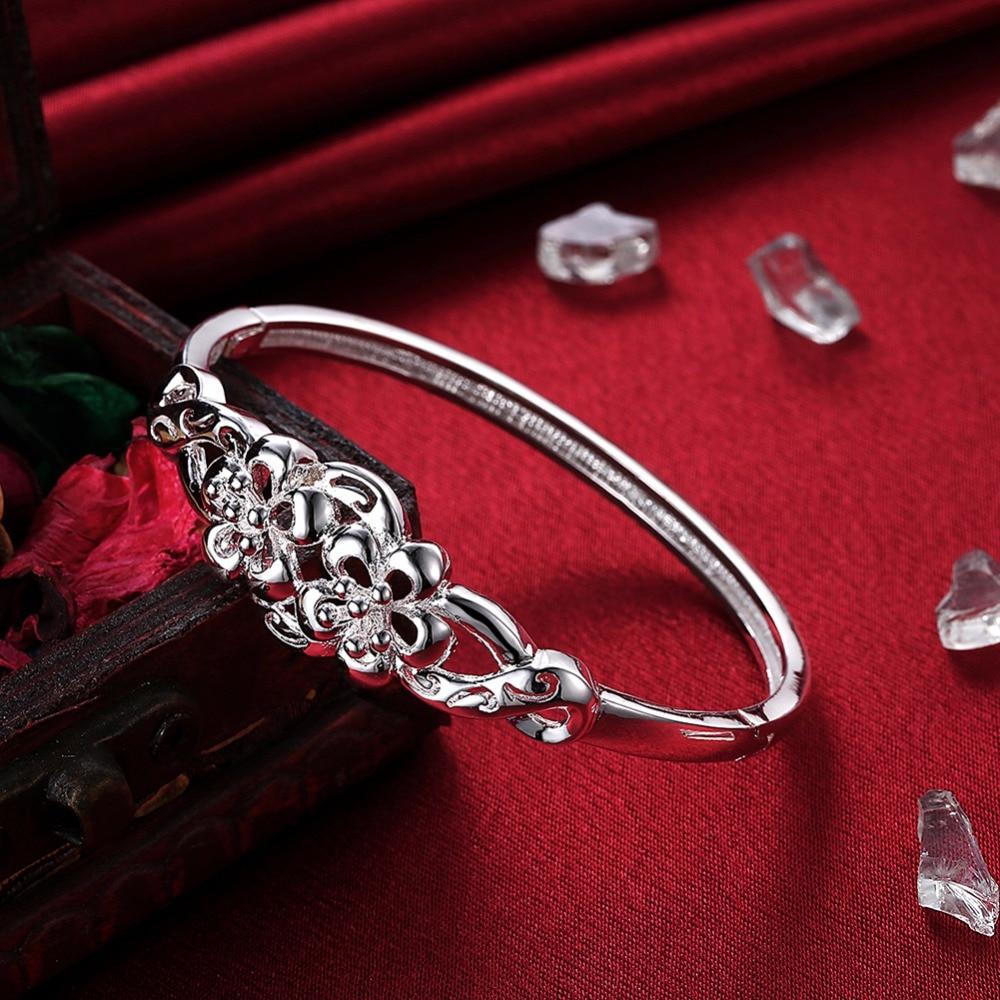 Two Flower Bracelet Mother Daughter 925 Sterling Silver Bracelets Women Children Boys S Charm Bangles In From