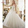 Vestido de Noiva Ball Gown Wedding Gowns Crystal Beading Bride Dresses 2017 Vestido de casamento
